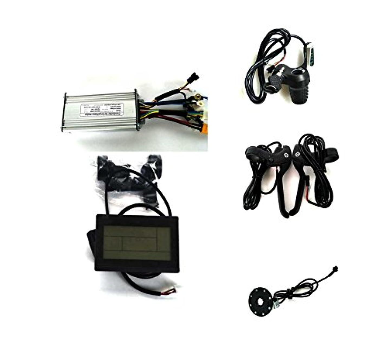 支払う着飾る障害25A Sine Wave Controller + LCD Control Panel + Twist Throttle +Brake Lever+PAS For 36V 48V 500W BLDC Motor