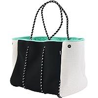 QOGiR Neoprene Multipurpose Bag Tote with Inner Zipper Pocket and Movable Board (Black)