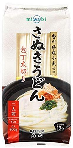 miwabi さぬきうどん包丁太切り 240g(めん200g、つゆ20ml×2)×15個