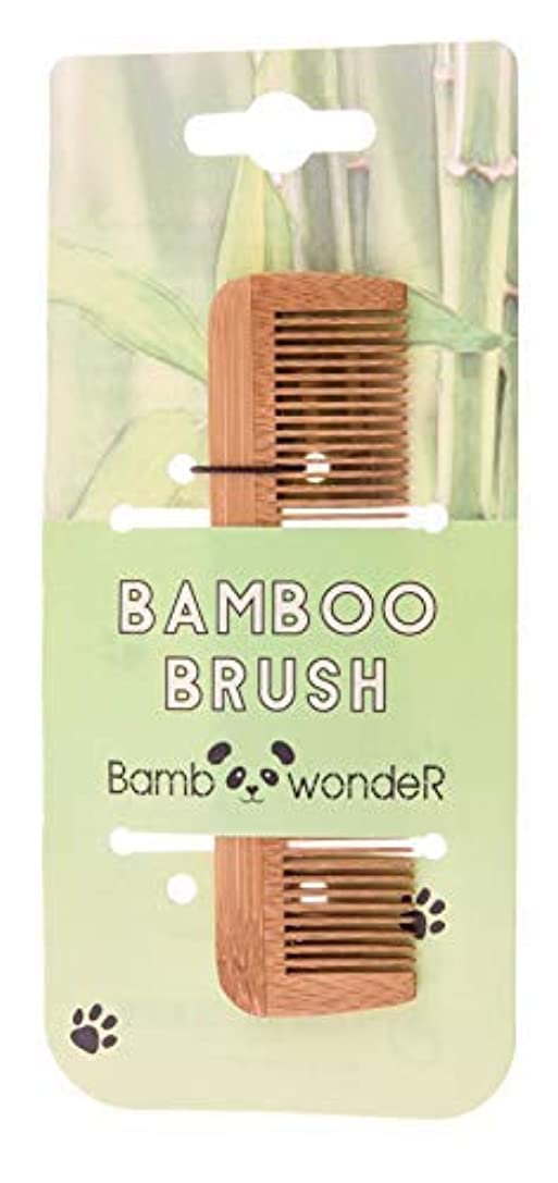 クロニクル女優オアシスBamboo Small Hair Comb - Bamboo Wonder 100% Eco-Friendly Mustache Beard Comb with Fine & Coarse Teeth for All...