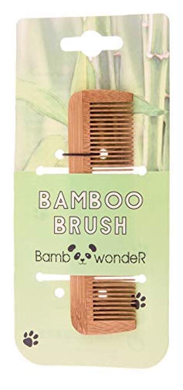 研磨剤メトリック好意的Bamboo Small Hair Comb - Bamboo Wonder 100% Eco-Friendly Mustache Beard Comb with Fine & Coarse Teeth for All...