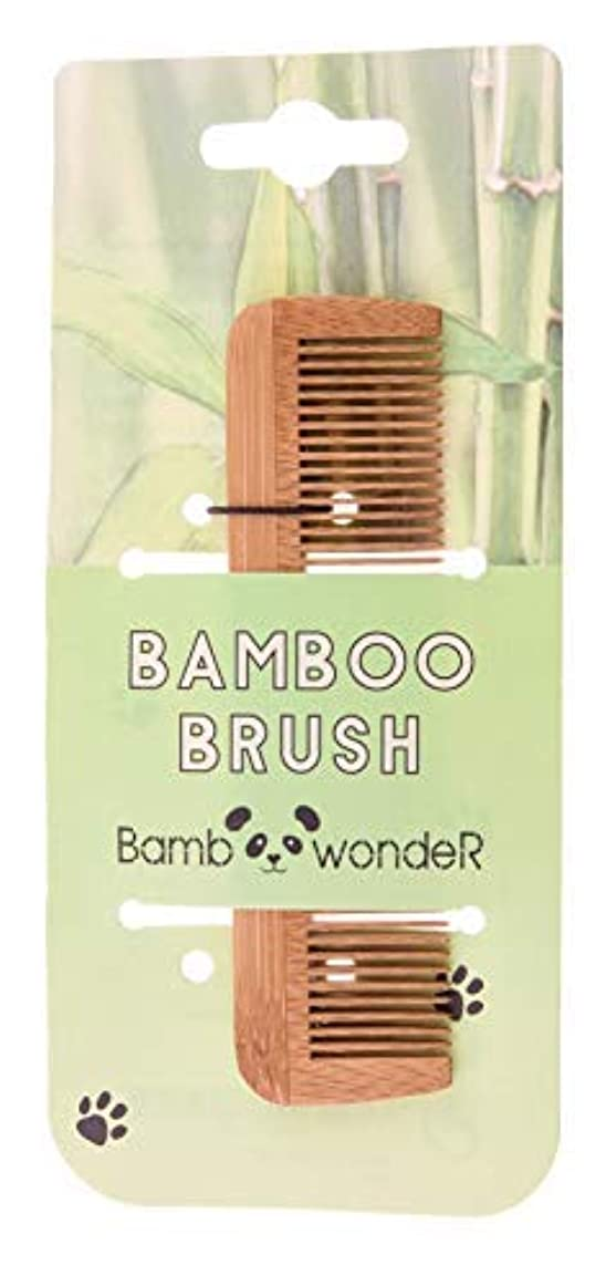 苦しむあいにく平和的Bamboo Small Hair Comb - Bamboo Wonder 100% Eco-Friendly Mustache Beard Comb with Fine & Coarse Teeth for All...