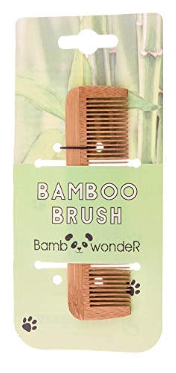 教授緊張スティックBamboo Small Hair Comb - Bamboo Wonder 100% Eco-Friendly Mustache Beard Comb with Fine & Coarse Teeth for All...