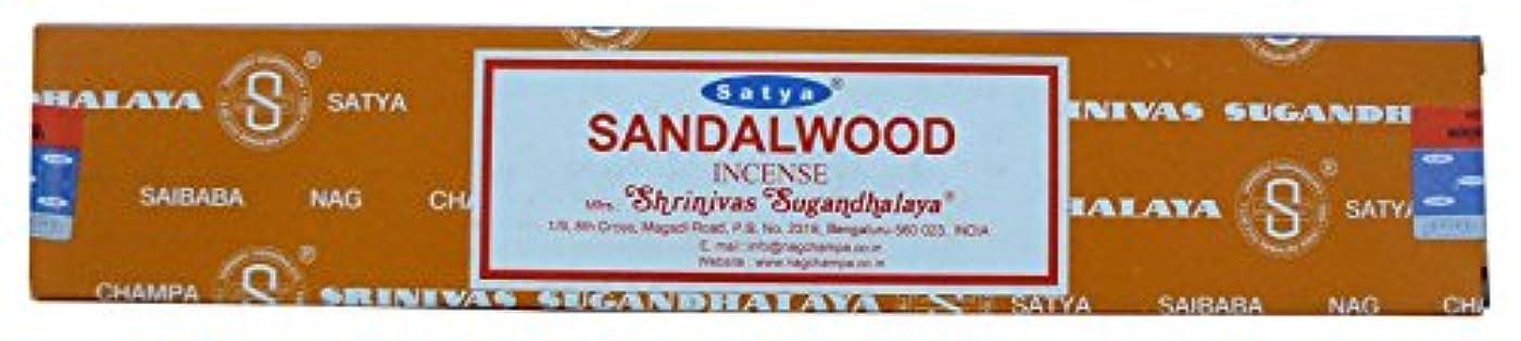 床影響力のある伸ばすSatya Nag Champa サンダルウッド お香スティック 12本