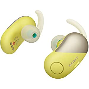 ソニー SONY 完全ワイヤレスノイズキャンセリングイヤホン WF-SP700N YM : Bluetooth対応 左右分離型 防滴仕様 2018年モデル イエロー