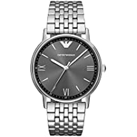 Emporio Armani Men's Quartz Watch Analog Display and Stainless Steel Strap, AR11068