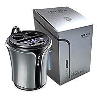 Holarosies For 多機能12-24V 100W + 40W車のシガーライター携帯電話のタブレットPCバッテリー電圧テスターHSC108DのデュアルUSB充電