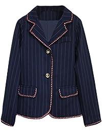 [美しいです] レディース 洋服 スーツ コート 折り襟 長袖 レジャー ゆったり スリム 春 夏 秋 冬 就活 通勤 ビジネス用 面接 ストライプ