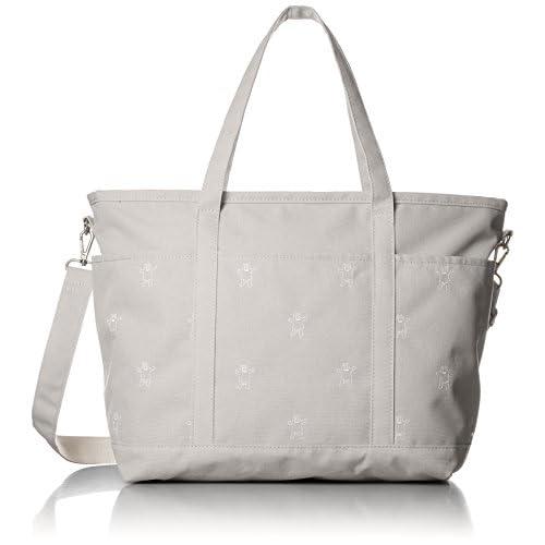 [ヒッチハイクマーケット] トートバッグ くま刺繍のマザーズバッグ  A4対応 10M17S-C008-1 11 ベージュ