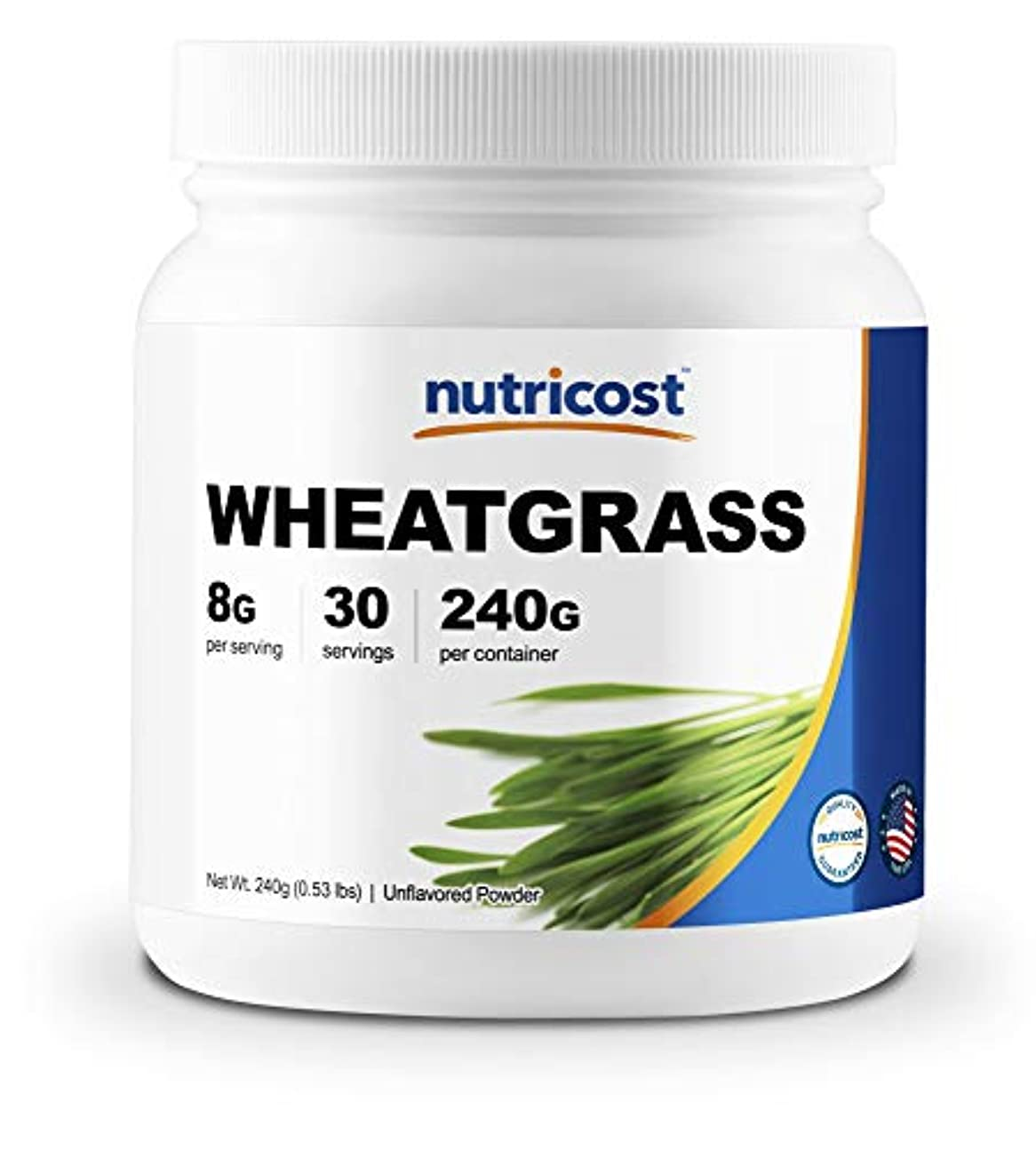 シールほんの東方Nutricost ウィートグラスパウダー (小麦若葉)、30食分、非GMO、グルテンフリー