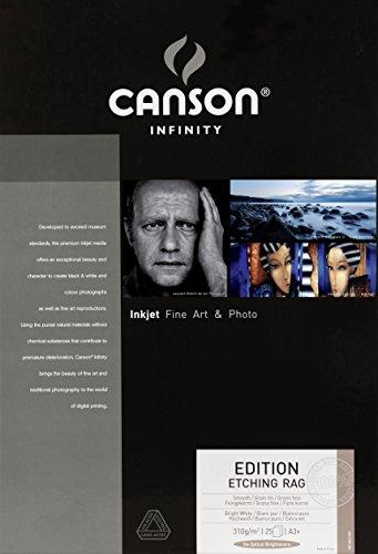 キャンソン 写真用紙 インフィニティ エディション エッチングラグ A3ノビ 25枚 6211008 【正規輸入品】