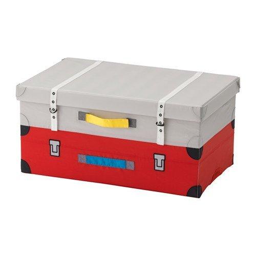 IKEA FLYTTBAR おもちゃ用トランク レッド 103.288.32...