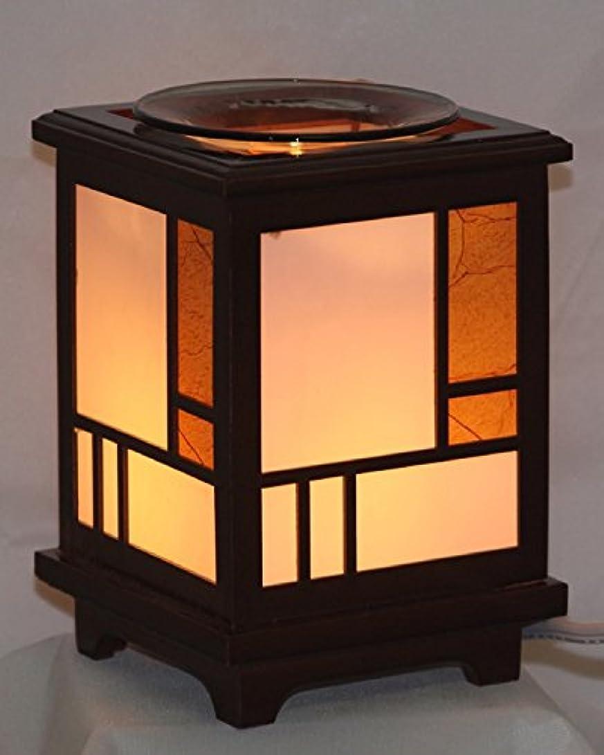 ローラー口実決定的木製ランタン( ew-709 ) Electric Fragrance Oil Tart Warmer ( Burner / Warmer /ランプ) withディマースイッチ