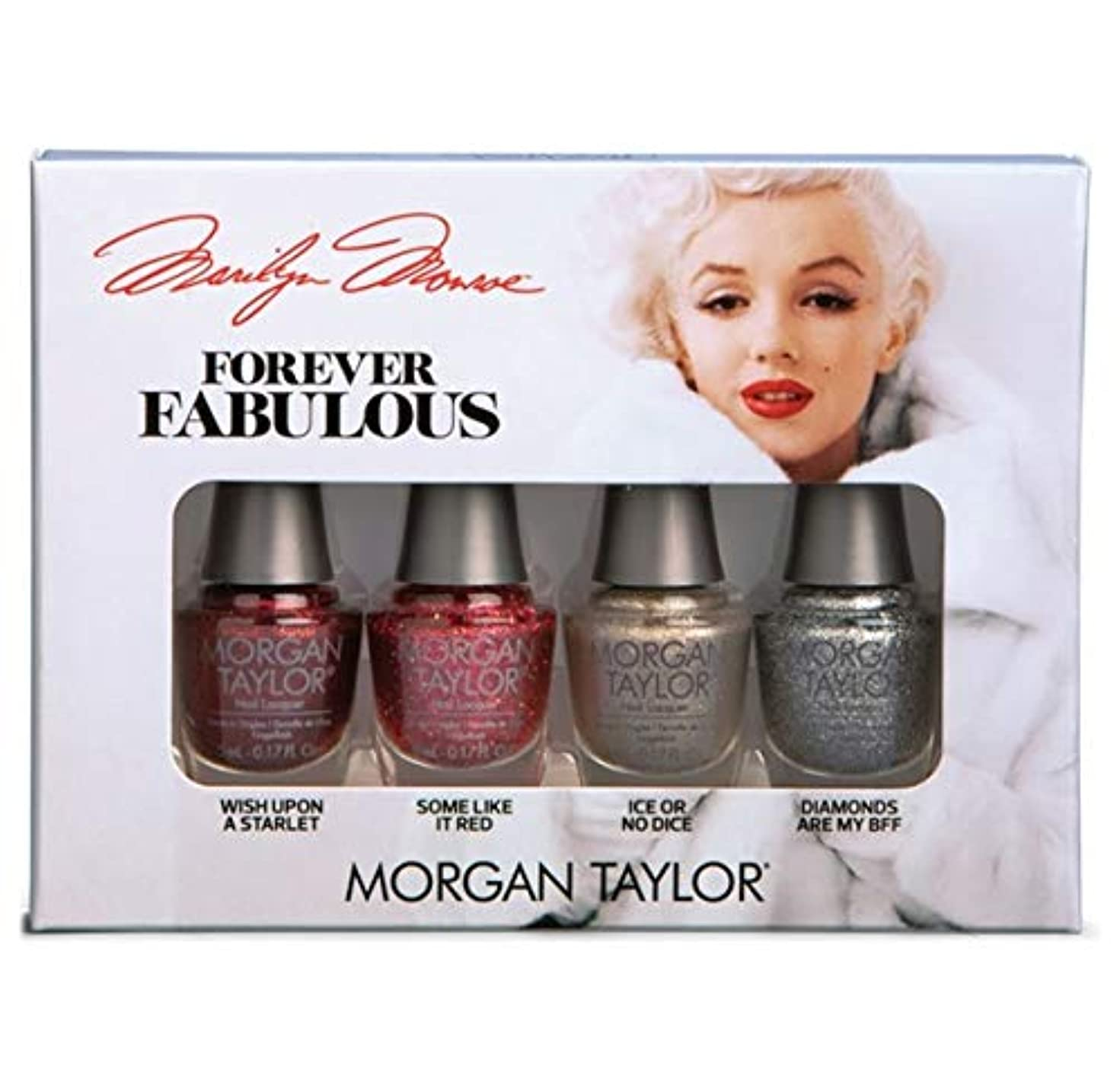 小屋店主独立したMorgan Taylor - Forever Fabulous Marilyn Monroe Mini 4 Pack - Glitter - 5 mL / 0.17 oz