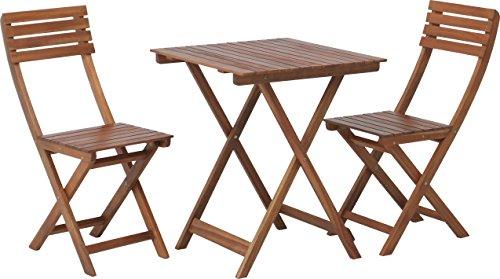 不二貿易:ガーデン3点セット テーブル×1 チェア×2 ブラウン