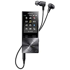 SONY ウォークマン A20シリーズ  32GB ハイレゾ音源対応 ノイズキャンセリング機能搭載イヤホン付属 2015年モデル チャコールブラック NW-A26HN BM