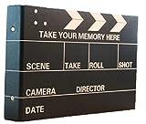 Fun Market レトロな雰囲気が素敵な 手作り アルバム 写真集 選べるデザイン 映画 カチンコ ポラロイド カメラ スクラップ ブッキング 基本 5種類12点 セット (全紙, 6.映画カチンコ(本体のみ)