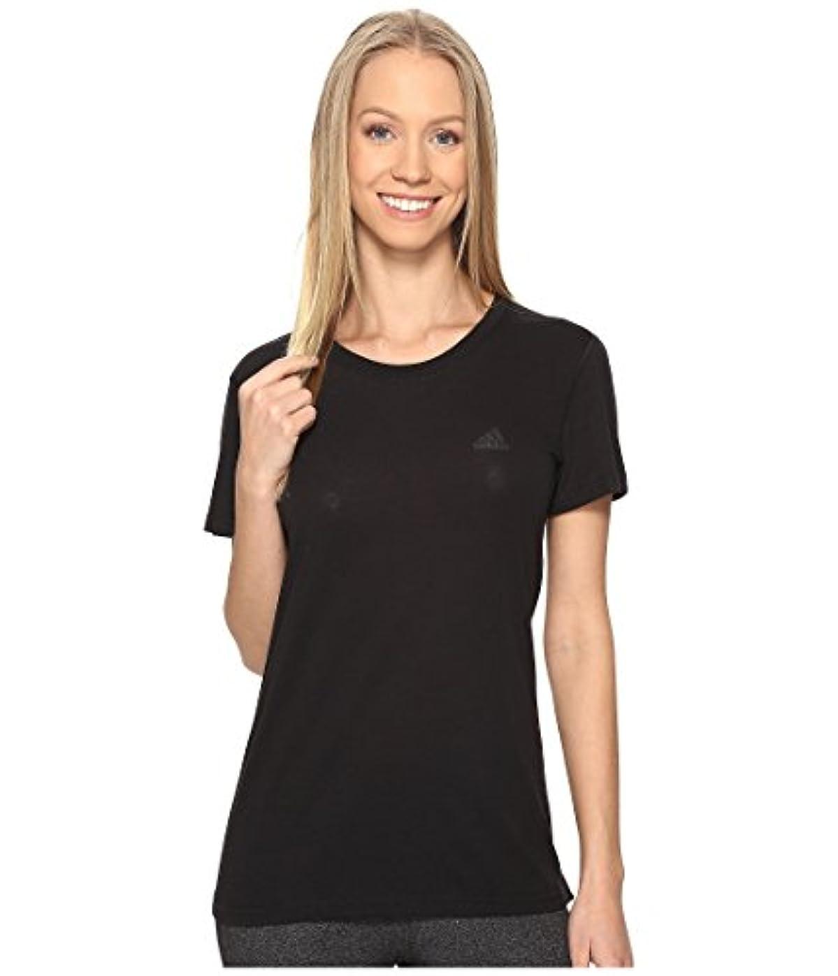 汚物男らしさアプト(アディダス) adidas レディースタンクトップ?Tシャツ Ultimate Short Sleeve Tee Black/Black 2XL (2XL) One Size