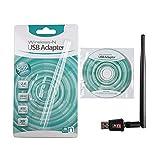 ミニワイヤレスUSBアダプタ300メートル2.4ギガヘルツ802.11 b/g / nネットワークカードusb2.0 wifiアダプタ付き2dbiアンテナ付きデスクトップラップトップpc