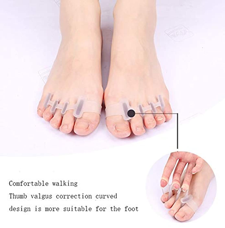 かき混ぜる間違えた電子レンジ足装具、ジェル足ストレッチャー、足に適したセパレータインスタント治療親指外反母趾コレクター