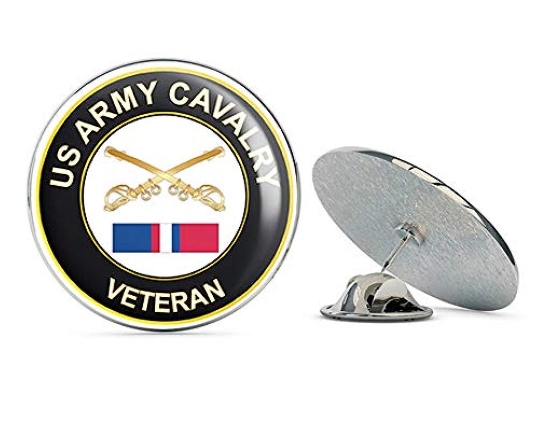 US Army Cavalry Kosovo Veteran メタル 0.75インチ ラペルハット ピン タイタック ピンバック