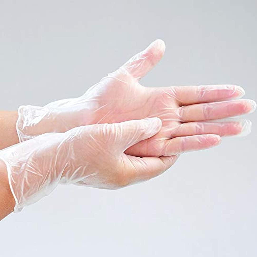 内なる酸化する対OWSOO 使い捨てグローブ 使い捨て透明PVC手袋 パウダーフリー 肥厚 防水用 実用 衛生 使い捨て手袋 高温抵抗 引張抵抗 実験室 歯科 炊事 家事 バーベキュー ケータリング ホーム用 透明 100ピース S