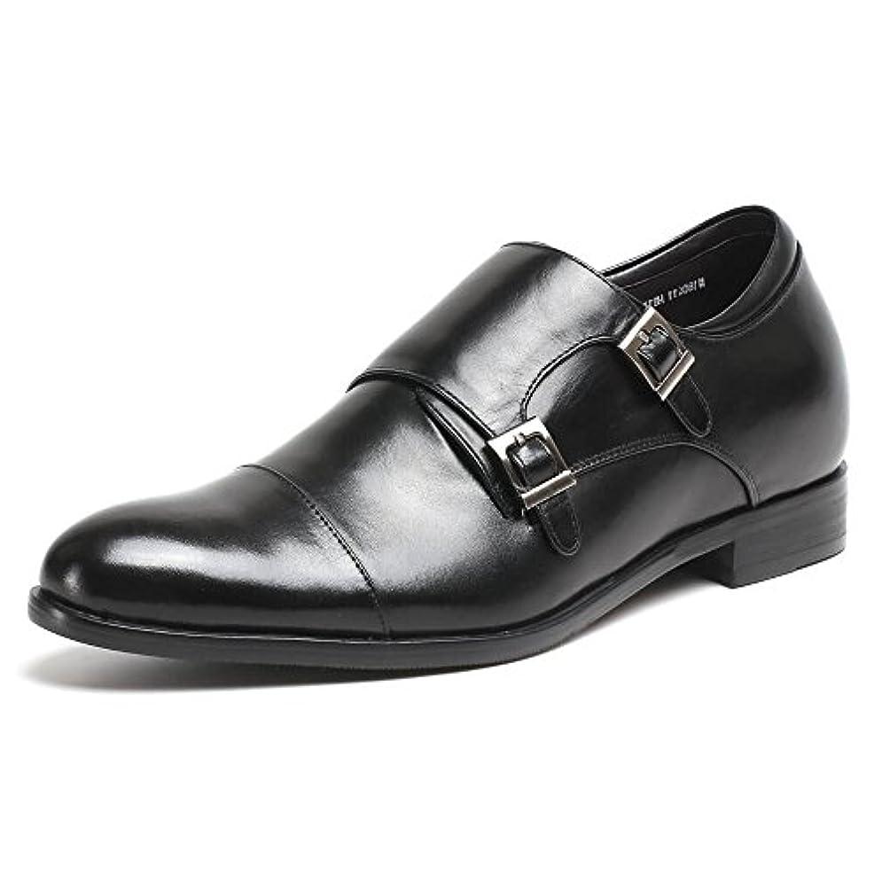 偽善者ホバーファイバCHAMARIPA(JP) シークレットシューズ 身長7cmUP ビジネス モンクストラップ 上げ底 紳士靴 インソール 本革 ストレートチップ H81X92K071D