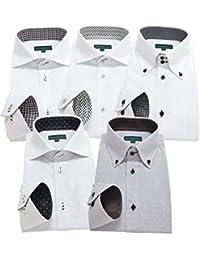 GREENWICH POLO CLUB(グリニッジポロクラブ) 長袖ワイシャツ 5枚セット メンズ pf 033-L