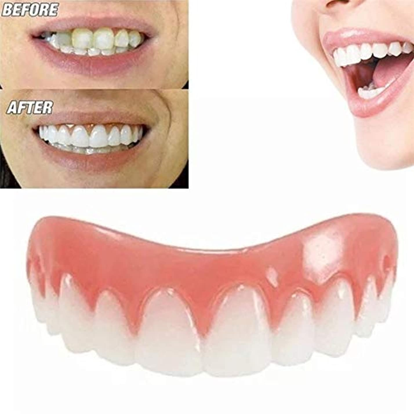 禁止明らか表面30個完璧な笑顔のベニヤ偽の歯アッパー偽の歯のカバー悪い歯のための歯のためのあなたに与えます完璧な笑顔のベニヤ - ワンサイズフィット