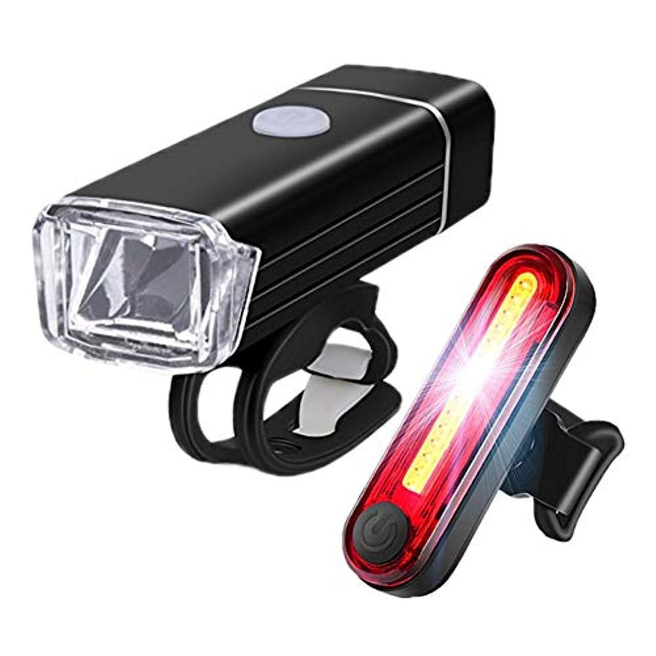 速い奨励浸透する自転車 ライト ヘッドライト 警告 テールライト アルミニウム 合金 USB 充電 ヘッドライト スーツ