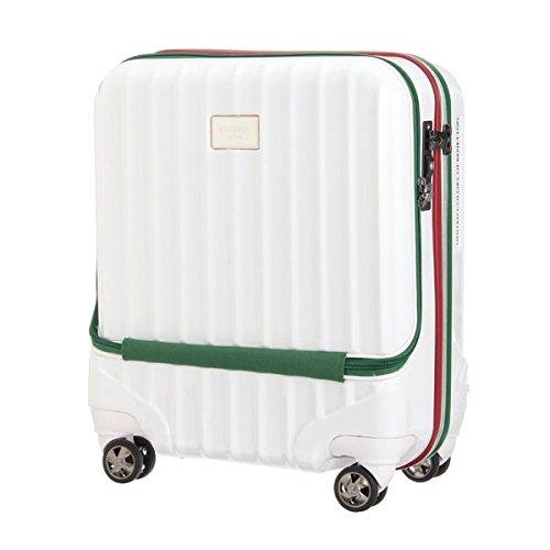 ベネトン レディース(UNITED COLORS OF BENETTON) トップオープンキャリーケース・スーツケース(M)機内持込可 容量約38L【ホワイト/FREE】