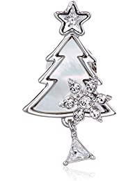 [プラス ヴァンドーム] Plus Vendome 【クリスマスコレクション】白蝶貝 クリスマスツリー ブローチ タックピン PVNV7725 UT
