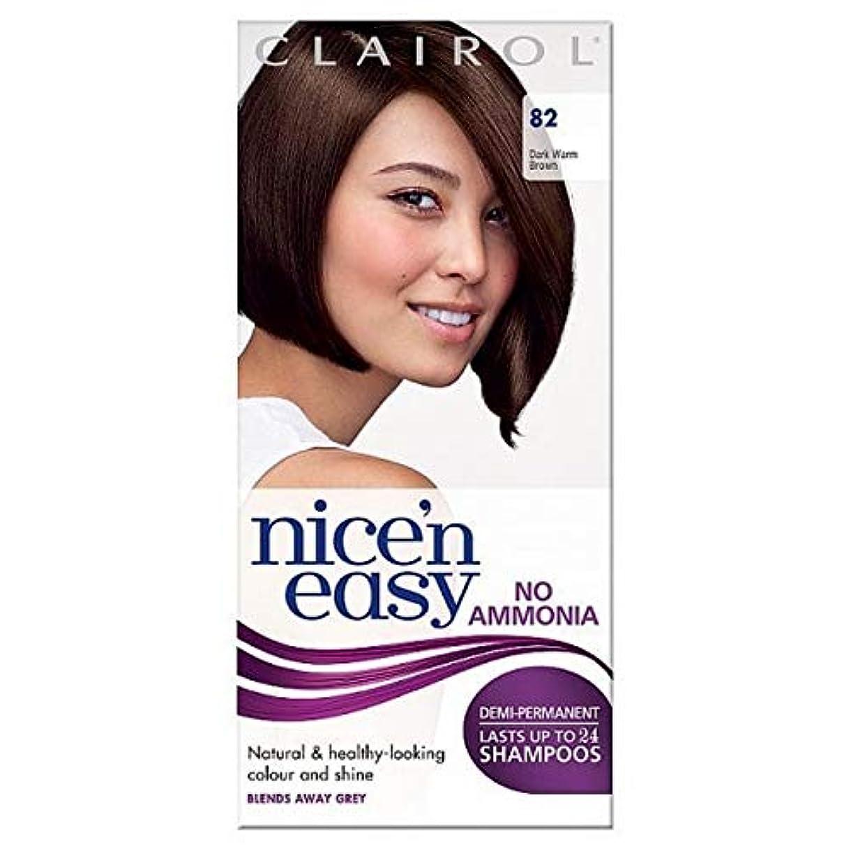 後ろにモス敬礼[Nice'n Easy] Nice'N簡単に無アンモニア毛染めダークブラウン暖かい82 - Nice'n Easy No Ammonia Hair Dye Dark Warm Brown 82 [並行輸入品]