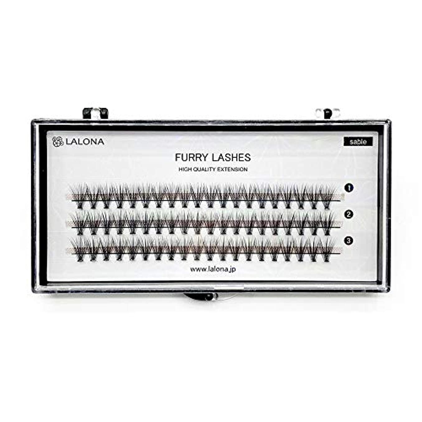 トレードさせる振りかけるLALONA [ ラローナ ] ファーリーラッシュ (30D) (60pcs) まつげエクステ 30本束 フレアラッシュ まつエク マツエク 束まつげ セーブル (0.05 / MIX)