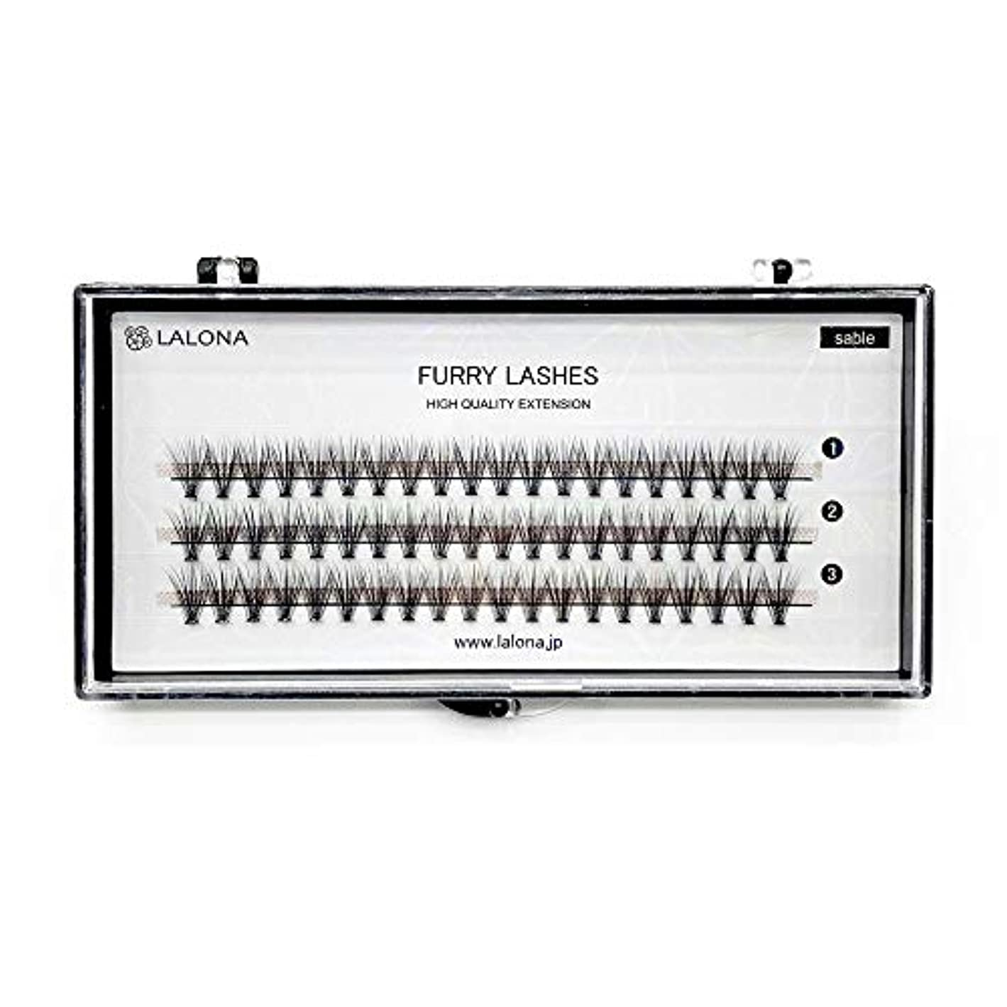 サスペンション発火する偏見LALONA [ ラローナ ] ファーリーラッシュ (30D) (60pcs) まつげエクステ 30本束 フレアラッシュ まつエク マツエク 束まつげ セーブル (0.05 / 10mm)