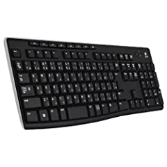 Logicool ロジクール フルサイズ 薄型 ワイヤレスキーボード テンキー付 耐水 静音設計 USB接続 3年間無償保証ボード Unifying対応レシーバー採用 K270