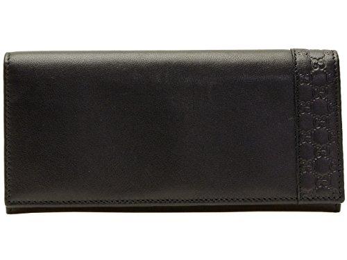 (グッチ) GUCCI 財布 長財布 二つ折り メンズ ブラック レザー マイクログッチシマレザー 256434a8wqn1000 アウトレット ブランド [並行輸入品]