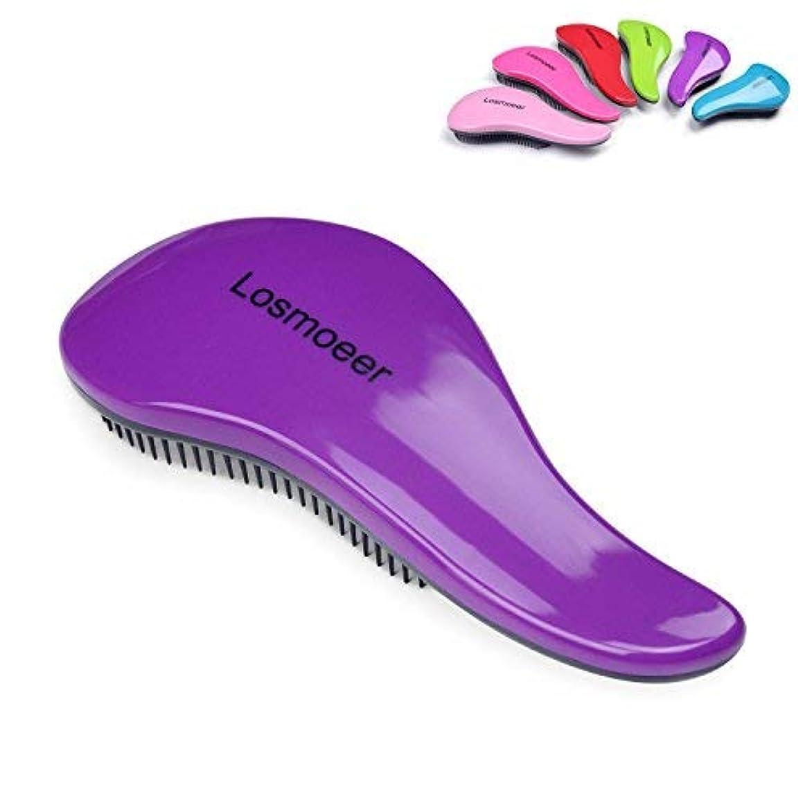 雪だるま収縮差し迫ったLOSMOEER Detangling Hair Brush - Professional Salon Elite Detangle Brush Detangler Hair Comb for Adults and Kids...