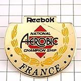 リーボック 靴 限定 レア ピンバッジ リーボック靴エアロビクス大会 ピンズ フランス