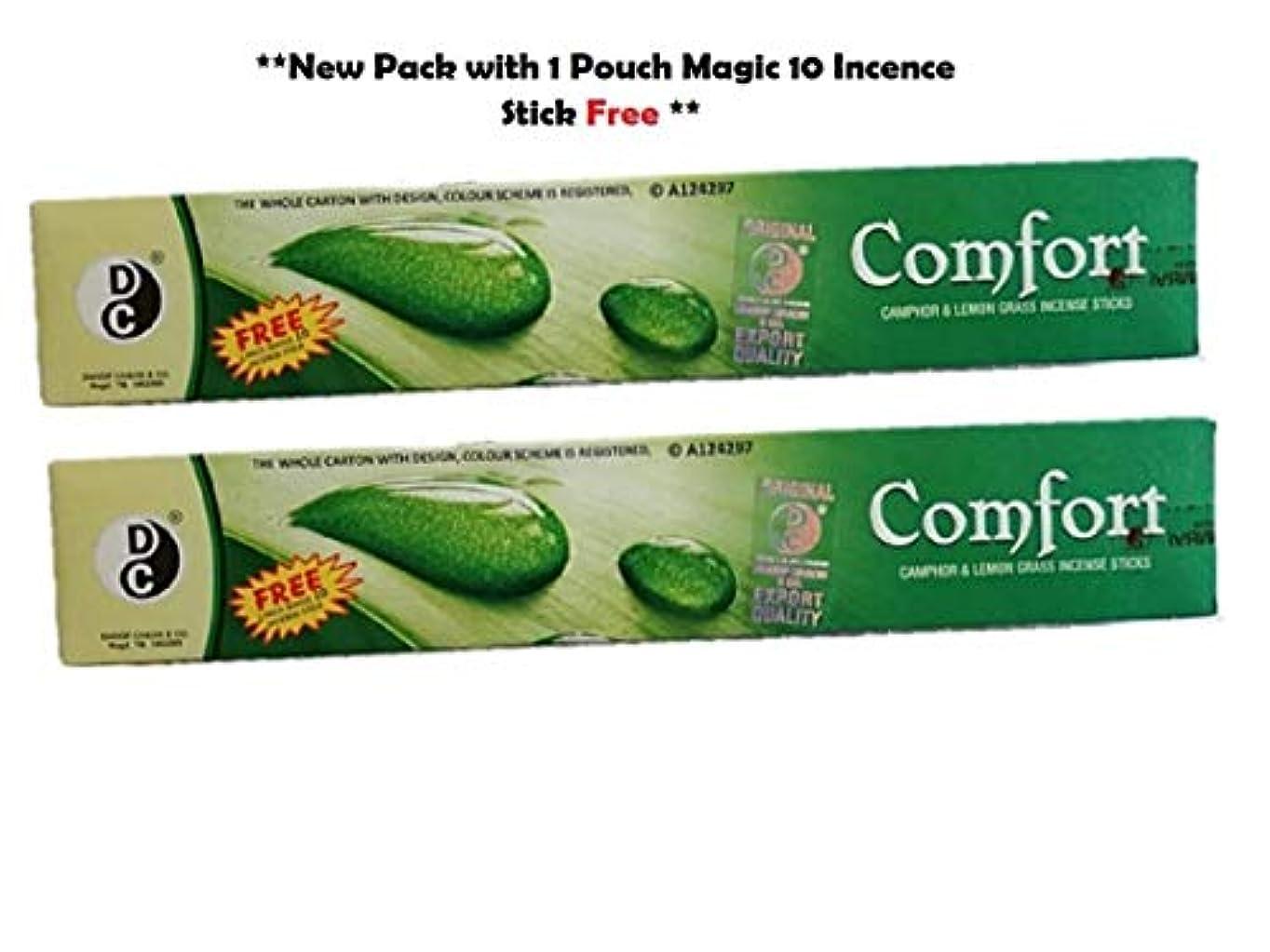 雇うパケット重くするComfort AC Natural Mosquito Repellent Camphor and Lemon Grass Incense Sticks (2 Boxes, 240 Sticks)
