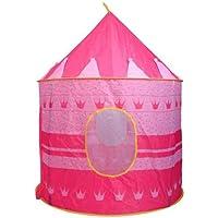 女の子用 プレイテント ポータブル 折りたたみ ブルー プレイテント 子供用 子供のお城 キュービープレイハウス ピンク