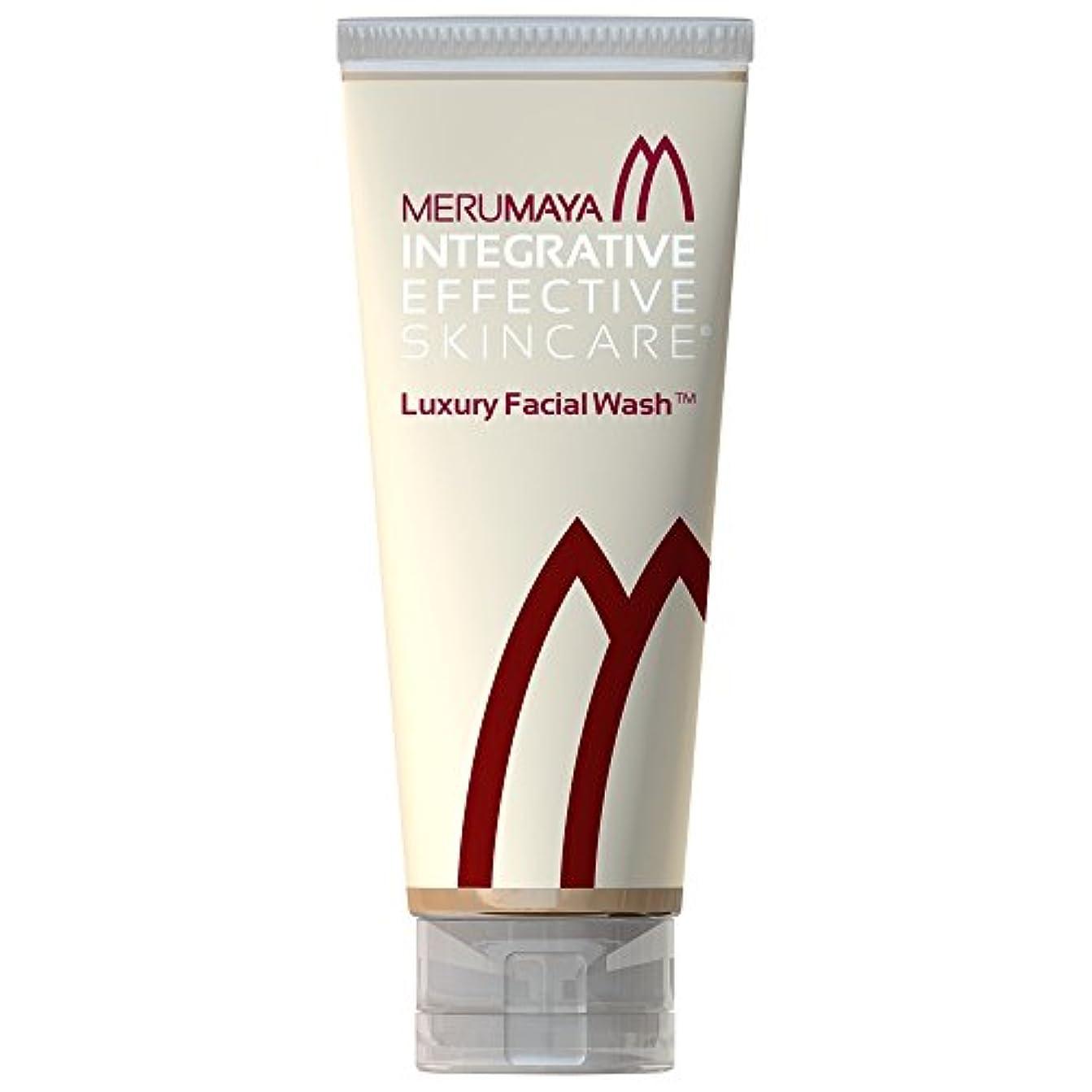 なめらか兄粉砕するMerumaya高級洗顔?、100ミリリットル (Merumaya) (x6) - MERUMAYA Luxury Facial Wash?, 100ml (Pack of 6) [並行輸入品]