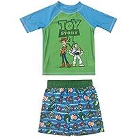Dreamwave Toddler Boy Authentic Character 2 Piece Rash Guard and Swim Trunk Set UPF 50