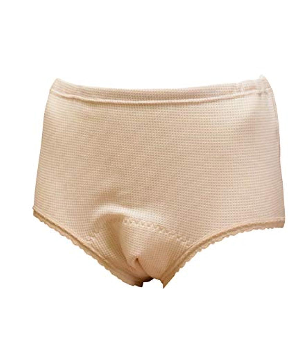 四半期成功鳴らす日本製 失禁パンツ 失禁ショーツ 女性用 中失禁対応 50cc 1枚 2枚セット M L LL (ベージュ1枚, M)