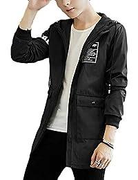 gawaga メンズ軽量ウインドブレーカーの屋外の因果のフード付きのジャケット