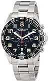 [ビクトリノックス・スイスアーミー] 腕時計 FIELDFORCE CHRONO ステンレスルチールケース(316L) ブラックダイヤル ステンレスチールブレスレット 241855 メンズ 正規輸入品 シルバー