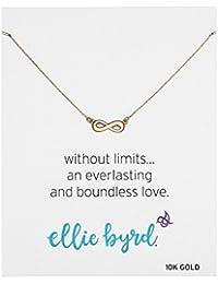 Ellie Byrd 10Kイエローゴールド インフィニティ ネックレス