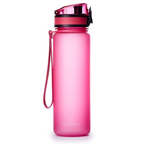 MARCATO ウォーターボトル スポーツボトル 水筒 トライタン BPAフリー 軽量 500ml (ピンク)