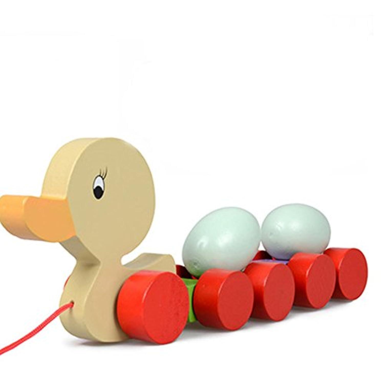 子供早期教育おもちゃドラッグ幼児用おもちゃ子供手Pullロープ木製車玩具 LE