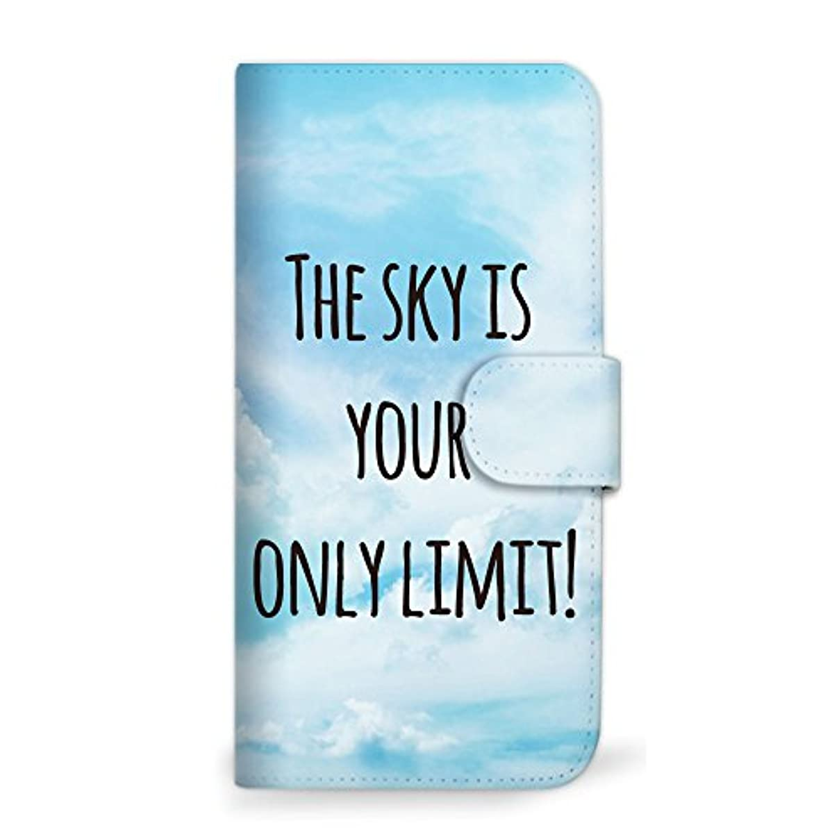比率いわゆる群がるmitas Galaxy S8 Plus SCV35 ケース 手帳型  空 シンプル ブルー (342) SC-0399-BU/SCV35